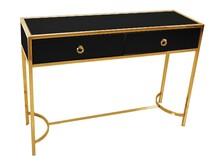 Toaletka Lustrzana LW6071 110x35x82 cm - złoto-czarny
