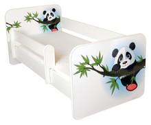 Łóżko dziecięce z barierką IGOR 4 - panda