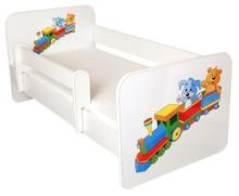 Łóżko dziecięce z barierką IGOR 19 - ciuchcia