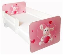 Łóżko dziecięce z barierką IGOR 30 - królik