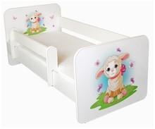 Łóżko dziecięce z barierką IGOR 31 - baranek