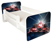 Łóżko dziecięce z barierką IGOR 35 - wyścigówka
