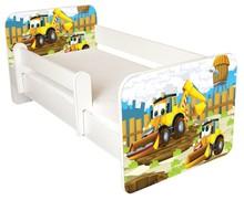 Łóżko dziecięce z barierką IGOR 38 - koparka