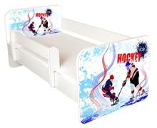 Łóżko dziecięce z barierką IGOR 41 - hokej