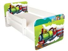 Łóżko dziecięce z barierką IGOR 42 - lokomotywa