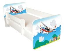 Łóżko dziecięce z barierką IGOR 43 - samolot
