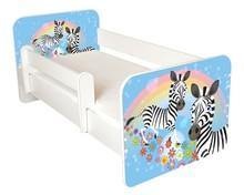 Łóżko dziecięce z barierką IGOR 47 - zebra
