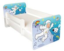 Łóżko dziecięce z barierką IGOR 48 - kosmonauta