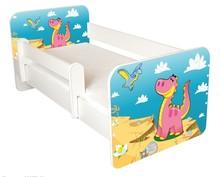 Łóżko dziecięce z barierką IGOR 49 - dinozaury