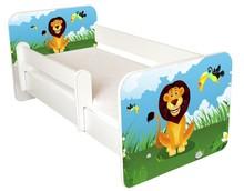 Łóżko dziecięce z barierką IGOR 58 - lew