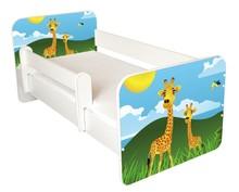 Łóżko dziecięce z barierką IGOR 59 - żyrafy