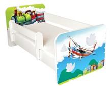 Łóżko dziecięce z barierką IGOR 60 - samolot/lokomotywa