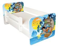 Łóżko dziecięce z barierką IGOR 61 - pirat