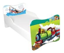 Łóżko dla dzieci WIKI 52 - lokomotywa/samolot