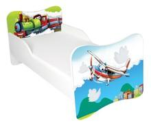 Łóżko dla dzieci WIKI 60 - samolot/lokomotywa