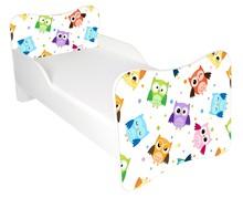 Łóżko dla dzieci WIKI 46 - sowy/biały