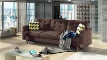 Sofa rozkładana pikowana ASGARD 3F - tkanina Gusto 69/pod. Zigzag 53