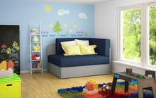 Sofa rozkładana dziecięca ROSA - tkanina Alova 79/Alova 10