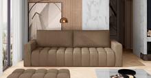 Sofa rozkładana pikowana LAZARO - tkanina Monolith 09