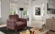 Fotel pikowany ASGARD 1F - tkanina Gusto 69