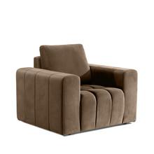 Fotel z szerokimi podłokietnikami LAZARO 1F - tkanina Monolith 09