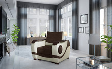 Fotel tapicerowany PUERTO 1F - tkanina Sawana 16/Soft 33