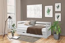 Rozkładane łóżko sosnowe KANGUR - biały