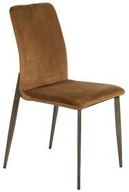 Krzesło welurowe Y211 - brązowy
