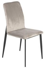 Krzesło welurowe Y211 - jasny popiel