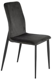 Krzesło welurowe Y211 - ciemny popiel