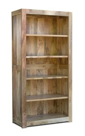Biblioteczka drewniana MILANO - mango naturalne