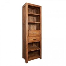 Regał drewniany z dwiema szufladami MODENA - palisander teak