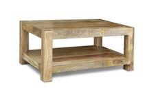 Stolik kawowy drewniany z półką VERONA