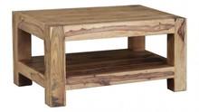 Stolik kawowy z półką drewniany VERONA 90x60 - palisander teak