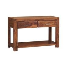 Konsola drewniana z dwiema szufladami i półką MODENA - palisander miodowy
