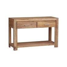 Konsola drewniana z dwiema szufladami i półką MODENA - palisander teak