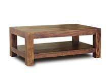Stolik kawowy z półką drewniany VERONA 120x70 - palisander miodowy