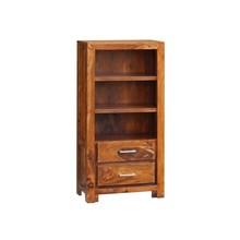 Regał drewniany MODENA 2 szuflady - palisander miodowy