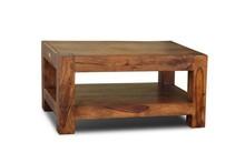 Stolik kawowy z półką drewniany 90x60 VERONA - palisander miodowy