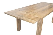Stół rozkładany drewniany VERONA 160/240x90 - mango naturalne
