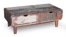 Stolik kawowy drewniany RETRO - drewno z odzysku