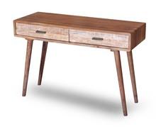 Konsola drewniana z dwiema szufladami BERGEN - akacja naturalna
