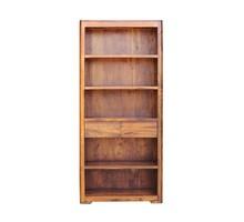 Regał drewniany z dwiema szufladami BARI - palisander miodowy