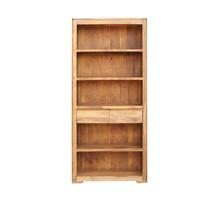 Regał drewniany z dwiema szufladami BARI - palisander teak