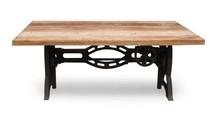 Stół z regulacją wysokości SOHO - drewno z odzysku