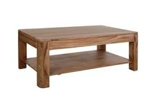 Stolik kawowy drewniany z półką BARI - palisander teak