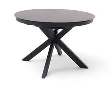 Okrągły stół rozkładany WINNIPEG - antracyt/czarny
