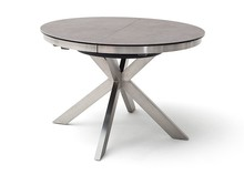 Okrągły stół rozkładany WINNIPEG - antracyt/stal