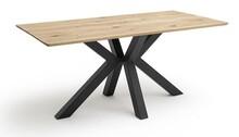 Stół drewniany ANTIGUA - lity dąb/czarny