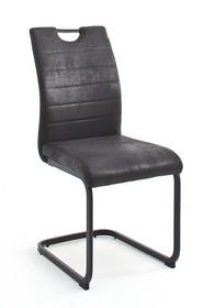 Krzesło na płozie BILBAO - vintage antracyt